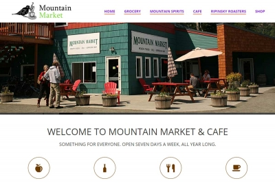 Mountain Market - Website made by Web 907