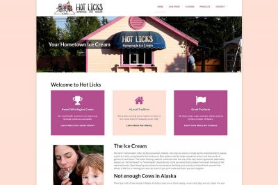 Hot Licks Ice Cream - Website made by Web 907