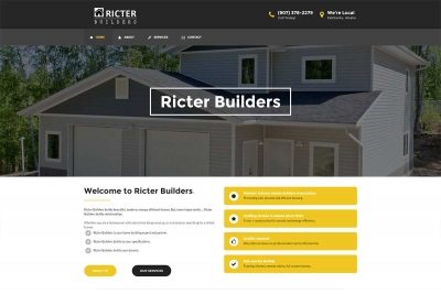 Ricter Builders - Website made by Web 907