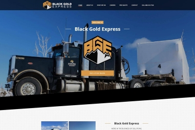 Black Gold Express - Website made by Web 907