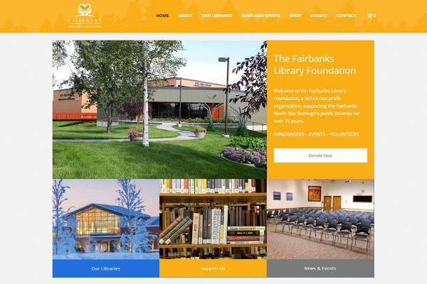The Library Foundation, Fairbanks - Website made by Web 907