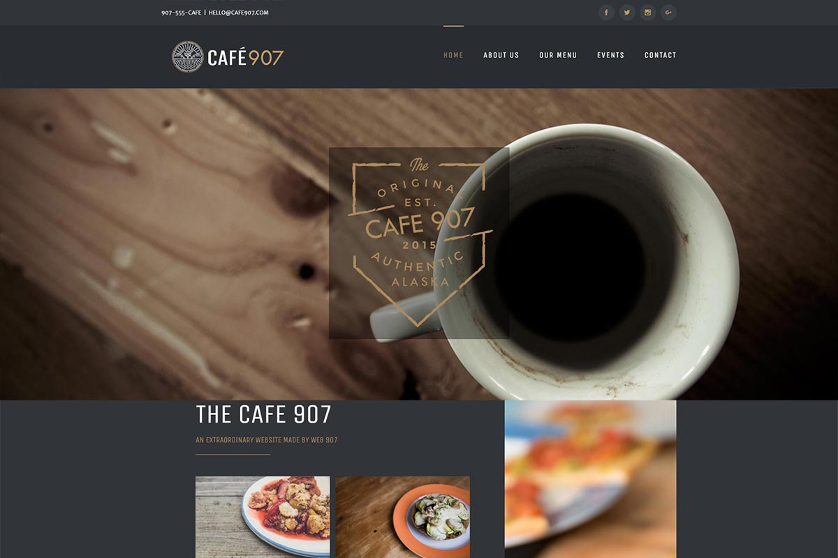 cafe website