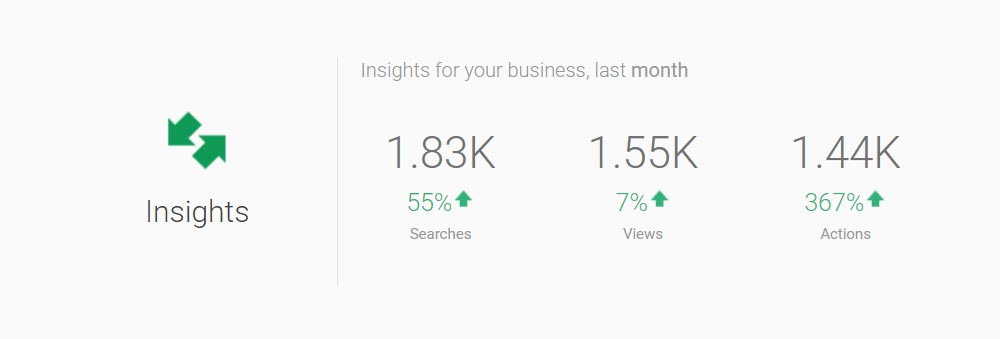 Google Business Listing - Visits Report