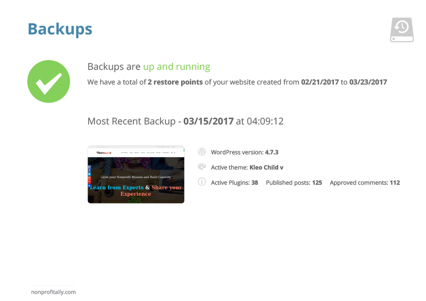 Website Hosting with Monthly Backups
