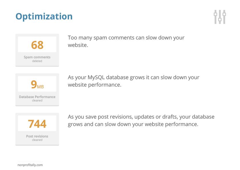 Hosted website optimization
