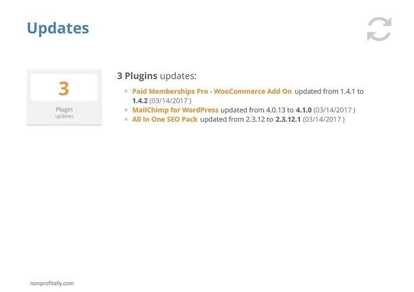Managed Hosting Website Updates